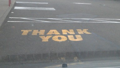 Thank you on the street