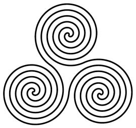 Triple-Spiral-Symbol