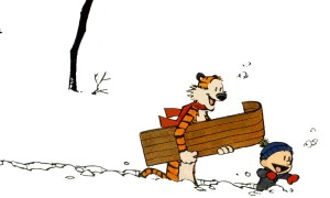 Calvin and Hobbes in Snow