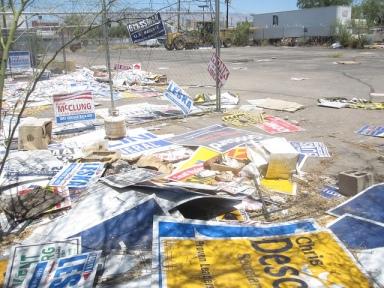 election trash - 1
